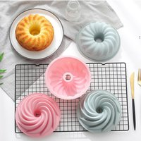 6 Inch Savarin Bakeware Cake Mold Household Steaming Silicone Bakeware Non-stick Round Kitchen Baking Tools Cake Mould HHE6661