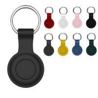 Airtag Tracker Boop Silicone Coque de protection Coque de protection avec porte-clés pour Apple Airtags Anti-Lost Finder
