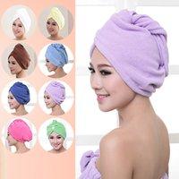 Shower Caps Towel Women Microfiber Magic Shower Caps Hair Dry Drying Turban Wrap Towel Quick Dry Dryer Bath 60*25cm GWB10469