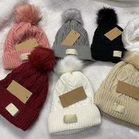Женский дизайнерская шапка шапка теплые осенние женщины шерстяные вязать шаповые дамы кепки весенние череп шляпы для женщин