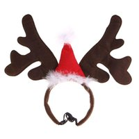 Christmas Pet Headband Deer Horn Hat Costume Dog Puppy Cat Cosplay Party Dress Up Product Supplies C42 Apparel