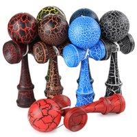 Привлекательная кендама 18,5 см Смешные японские традиционные деревянные игрушки Kendamas мяч красочные PU краска деревянные игрушки 836 v2