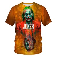 2020New camiseta Mens Hip-Hop Palhaço Impressão de mangas curtas T-Shirt Material Macio Material Leite Tecido De Seda Homens e Mulheres Roupas