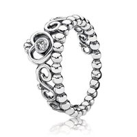 925 Sterling Silver Rings CROWN Rose ring gold Diamond with LOGO Original box Pandora Jewelry for Women Best Gift