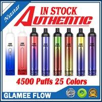 Original Glamee Flow Disposable E-cigarettes Pod Device Kit 4500 Puffs 2200 Battery 16ml Prefilled Cartridges Vape Stick Pen For Bang XXL Plus Max Authentic