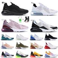 270 Erkek Kadın Koşu Ayakkabısı Üçlü Siyah TÜMÜ Beyaz Zar zor Gül Metalik Altın Üst Moda 27C BE True Univeristy Kırmızı Eğitmenler Sneakers Eur 36-45