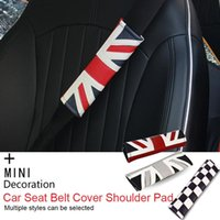 Safety Belts & Accessories 2pcs PU Leather Seat Belt Protective Shoulder Pad Cover Union Jack For Mini Cooper F55 F56 F60 R55 R56 R60 R57 R5