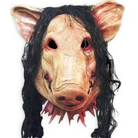 Party Hats Halloween Pig Head Mask For Carnival Stage Performance Character Cos Fine Workmanship Good Appearance