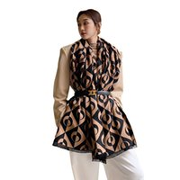 Designer scarf shawl imitation cashmere scarves female Korean black and white fashion warmth thickening cold air conditioning tassel Pashmina neckerchief