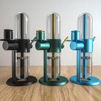 2pcs 360-gradi rotante narghilè tubo di acqua di vetro Bong Accessori per fumo Concentrati di olio Shisha