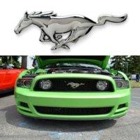 3D 15.5cm Correndo Cavalo Logotipo Metal Adesivo Fender Emblema Emblema Decalque Decalque Do Carro para Ford Mustrnd Ferrari Carro Janela
