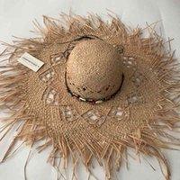 Zjbechmu Novos Fedores Sólidos Vintage Palha Sun Chapéus Para Mulheres Menina Verão Caps Acessórios De Jóias Sombreada Beach Dobrável Bonés 210323