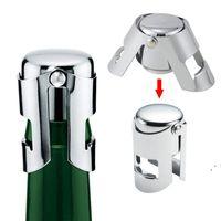 Tragbare Edelstahl-Weinstopper-Bar-Werkzeuge Champagner-Kork-Dichtungsmaschine Funkelnde Weinkappe Meer Versand owb5980