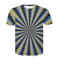 Camiseta de verano Tecnología Tecnología Material para hombre Ropa de hombre Cuello de manga corta Camiseta 3D Patrón geométrico Impresión