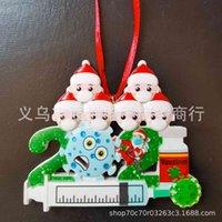Christmas 2021diy resin epidemic prevention head pendant mask Snowman Family Christmas tree decoration PL61