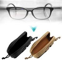 Açık Çanta Taşınabilir Darbeye Dayanıklı Güneş Gözlüğü Okuma Gözlükleri Taşıma Çantası Sert Fermuar Kutusu Seyahat Paketi Kılıfı Kılıfı Siyah