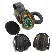 Correntes de caça táticas tiro fones de ouvido cancelamento de ruído cancelamento de ouvido esporte Fone de ouvido eletrônico fone de ouvido preto / verde