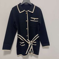 Runway Sweater Lapel Neck Long Sleeve Women's High End Jacquard Cardigan Women Designer 1011-2