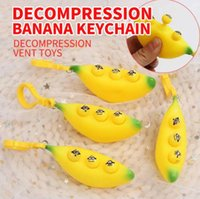 2021 toy Pop Fidget Squeeze the banana key to relieve pressure relief toys pinching