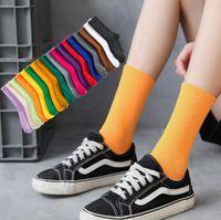 Salina damas calcetines invierno primavera año corto tubo ordinario moda 18 puro color colocación deportes ocio confort ing