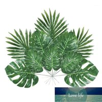 48 adet 4 Çeşit Suni Palmiye Yapay Palmiye Sapları Kaynaklanıyor Tropikal Bitki Hawaii Luau Parti Ju1 Için Monstera Yaprakları Monstera
