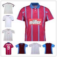 1980 81 1982 93 95 Villa Retro Jerseys de fútbol clásico Vintage Grealish Aston Jersey Wesley McGinn Barkley Watkins Men Football Shirt