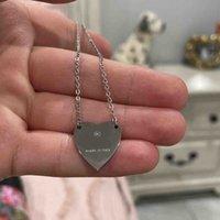 Luxus Halskette Frauen Edelstahl Paar Herz Gold Kette Anhänger Schmuck auf dem Nacken Geschenk für Freundin Zubehör Großhandel