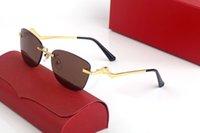 빈티지 무선 선글라스 브랜드 디자인 남성용 태양 안경 금속 작은 와이어 합금 불규칙한 프레임 클리어 렌즈 여성 남성 안경 Lunettes 드 Soleil