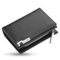Wallets Mens Short Wallet Fashion Casual Organ Business Card Coins Bag Large-capacity With Pu Leather Zipper Purse For Birthday Gift