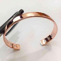 Pure Copper Magnet Energy Health Open Bangle Plated Fashion Color Simple Bracelet Bio Healthy Healing 1pc Diameter 8cm
