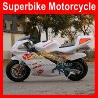 Nouveautés Véritable scooter 49cc / 50cc Mini Sports MotoBike Two-temps Moto Moto Moto Starter Motocycle Adulte Student Enfants Autocycle Gasoline Kart Chaude Moto