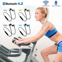 Magnetic XT11 Wireless Bluetooth Headphones Running Sport Earphones Headset BT 4.2 Mic MP3 Earbud For iphone 13 12 pro max 11 S8 S10 with detail box