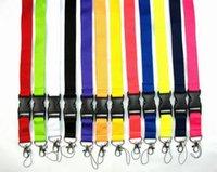 Sangles de lanière de téléphone portable Marque de sport pour les clés pour la chaîne d'identité de la chaîne d'identité titulaire des lanières de boucle détachables 100pcs