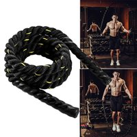 Jump Ropes Fitness Aerobic Exercise Sports Workout Improve Strength Thick Weighted Training Rope Lose Weight Home Gym Building Muscle