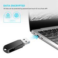 고품질 USB 플래시 드라이브 16GB 32GB 64GB 128GB 2 USB3.0 및 Type-C 포트 360 ° 회전 아연 합금 금속 케이스가있는 스마트 폰용 메모리 스틱