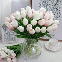 Decorative Flowers & Wreaths 12Pcs Mini Tulip Flower Wedding Bouquet Artificial Silk For Home Valentine's Day Party Decoration Gifts