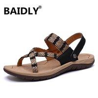 Sandals Gladiator For Men Sandalet Fashion Casual Summer Shoes Mesh Beach Slippers Sandalia Hombre