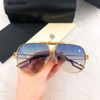 Luxo Designer Sunglasses UV400 Marcas de Alta Qualidade Luxo \ U00A0Designer Sunglassess Metálico Mulheres Homens e para Sun Buffalo Chifre Óculos