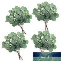 24 morceaux artificiels d'eucalyptus d'oicalyptus de feuilles de feuilles d'eucalyptus fausse dollar eucalyptus plante fausse branche1