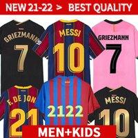 Versión del Jugador Camiseta de Fútbol Messi Barca 20 21 22 Camiseta Futbol Ansu Fati 2021 2022 Griezmann F. de Jong Camisetas de Fútbol Camiseta Hombres Kit