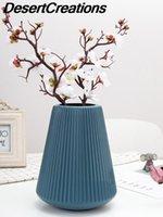 Vazo Basit Ev Dekorasyon Saksı Taklit Seramik Plastik Vazolar