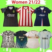 2021 2022 المرأة Chivas Soccer Jersey Black Liga Mexico MX Club FC 21 22 Guids Guadalajara America CA زي Oryms السيدات