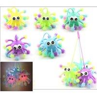 5-calowy Fidget Decompressio Zabawki TPR Osłona Stresowa Piłka Snowflake Convex Eye Luminous Elastyczne Jeż Wielopoziomowy Octopus