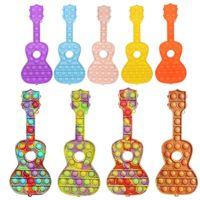 DHL mode 25cm fidget jouets de guitare push bulle bulle adulte soulagement antistress doux squishy anti-stress