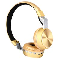 5-color headset Headphones wireless Bluetooth earphone folding leather metal plug cartoon phone computer universal