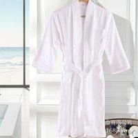European air bathrobe white cardigan cotton lovers pajamas bathrobe beauty salon five star hotel bathrobe