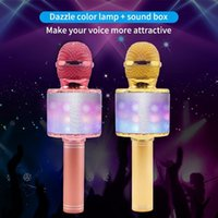 Luz parpadeante Micrófono Iluminación Juguetes Bluetooth Capacitor inalámbrico con niños Micrófonos divertidos de música