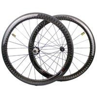 Bike-Räder 12k Kohlefaser-Basalt-Bremsfläche 700C-Rad-Tubeless READY Powerway R51 Hub Super Light Road Fahrrad-Radsatz