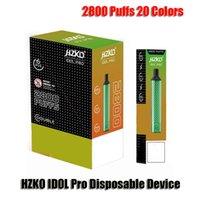 Original Hzko Idol Pro Disponible E Cigarrillos Dispositivo POD 2800 Puffs 1500mAh Batería 8ml Carácter precargado Vape Pen vs XXL MAX
