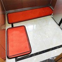 캐주얼 디자이너 홈 카펫 세트 매트 2 조각 정장 주방 침실 욕조 긴 매트 안티 슬립 입구 문 층 장식